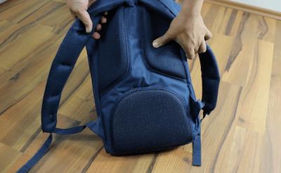 Die Rückenpartie des Little America Rucksacks