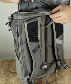 Außentasche des North Face Kaban Rucksack
