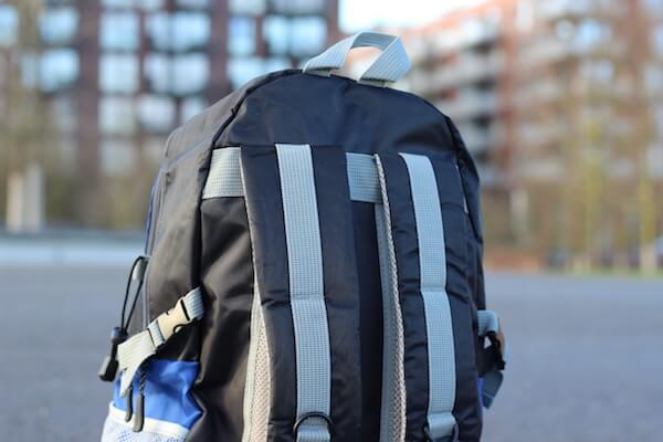 Rückenbereich vom Sportastisch Rucksack